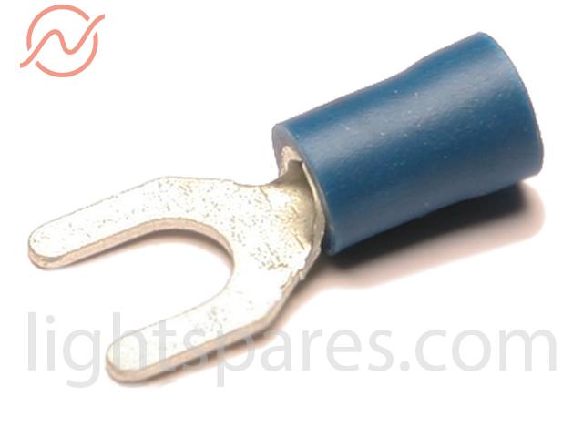 Kabelschuh blau Gabelzunge M5
