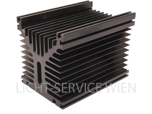 Kühlkörper 180x125x135, 0,48k/W, schwarz